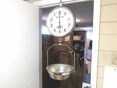 Huge Chatillon 30 Pound Double Sided Hanging Butcher / Produce Scale With Bowl
