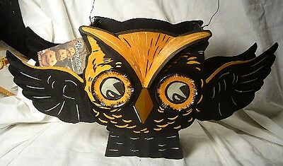 Bethany Lowe Halloween Whooty Owl Lantern Light included!