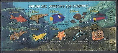 El Salvador 2007 Marine Fish  Sc 1668  Mint Never Hinged