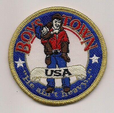 "Boys Town Usa, Nebraska Souvenir Patch - ""he Ain't Heavy"""
