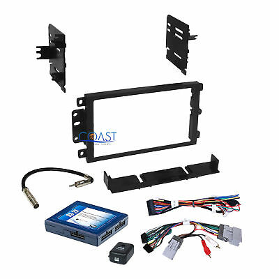 Car Stereo 2 Din Dash Kit Onstar Interface Harness for 2000-up GM GMC Chevrolet