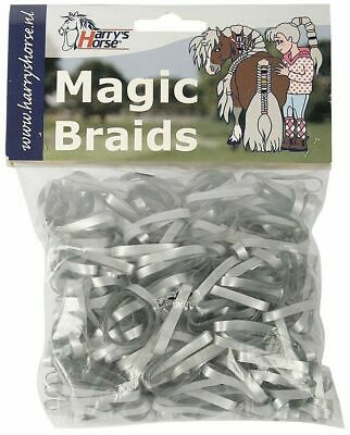 Harry's Horse Magic Braids Plaiting Elastic Bands - Silver REUSABLE  Harry's Hor