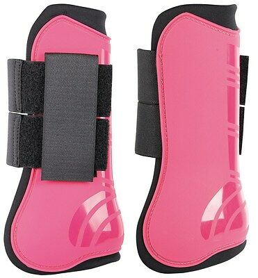 Harry's Horse Next Open Front Jump Boot Set (front & hind) Fuchsia - Cob