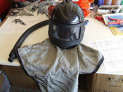 Viking Sandblast Helmet Sandblasting Air Fed With Regulator & Belt