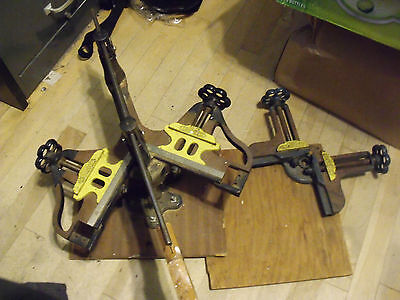 #3268 - both Stanley No.100 & 400 mitre corner picture clamps in this lot;