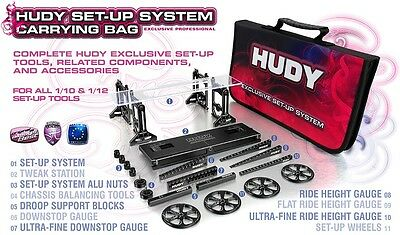 Hudy Complete Set-Up Tool Set w/Carrying Bag 1/10 Touring Car #HUD108256  OZRC