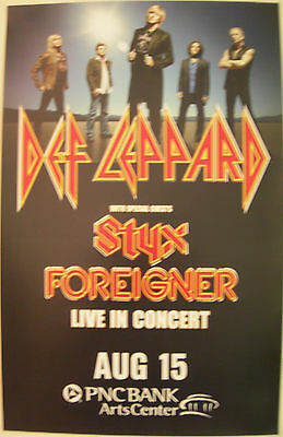 Def Leppard Concert Tour Poster 2007 Styx Foreigner