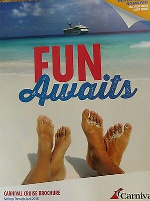 NEW 2016 -2018 - Carnival Cruise brochure  ..JUST OUT. ��
