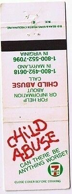 7 Eleven Stores Matchbook Cover Child Abuse Can There Be Anything Worse?