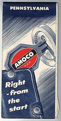 Pennsylvania Amoco Road Map 1956
