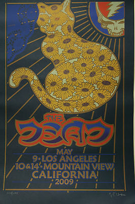 GRATEFUL DEAD The Dead CAT Lithograph AUTOGRAPHED NUMBERED
