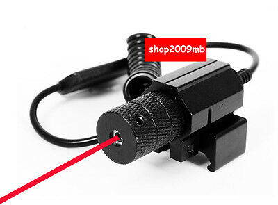 Red Dot Laser Sight W/20mm Rail Mount Dual Switch For Gun Pistol Rifle Hunting