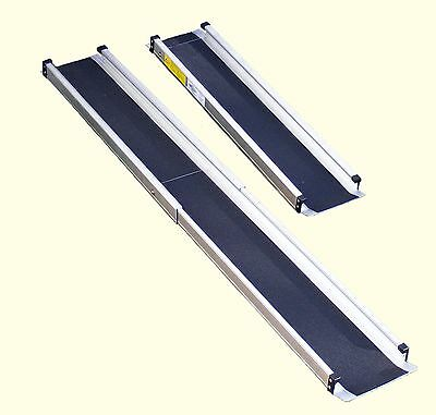6ft Folding Telescopic Wheelchair Scooter Channel Ramps, Light, Portable, Strong