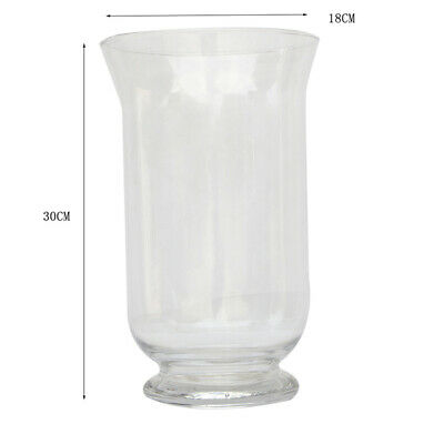 4 x Hurricane Glass Wide Candle Holder Vase Lamp Wedding 30cm