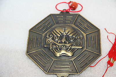 FENG SHUI  mirror Bagua Pakua remove evil remove bad luck larger lion dragon