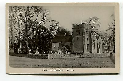 Harefield Church, Middlesex - old real photo postcard, local publisher (Bates)