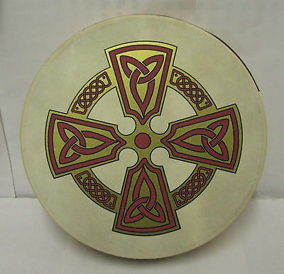 "IRELAND Irish MUSIC 12"" KILKENY CROSS Bodhran Drum Beater & DVD PACK"