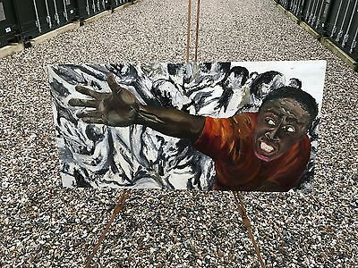 Hand-painted Abstract wall art oil painting Teenage Lad