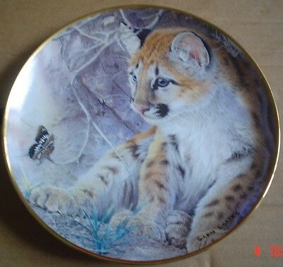 Franklin Mint Collectors Plate FIRST ENCOUNTER Leopard Cub