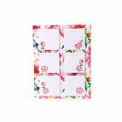 Floral Watercolour Magnetic Post It Notes Notepad To Do Lists Shopping Reminders