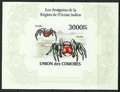 Comores Araignees Mygales Missulena Spiders Spinnen Non Dentele Imperf ** 2010