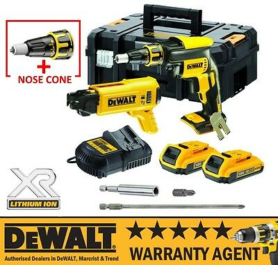 DeWalt DCF620D2K 18V Lithium Li-Ion Autofeed Drywall Screwdriver 2.0Ah Kit NEW