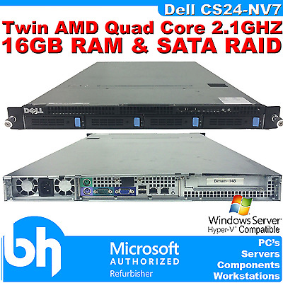 Dell PowerEdge CS24-NV7 2x Quad Core Rack Server AMD 16GB RAM CADDIES RAID RAILS