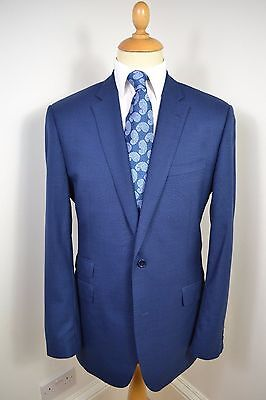 Vintage Aquascutum Blue Two-Piece 100% Wool Suit Large 42 Long