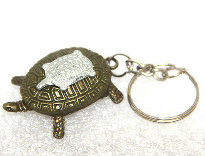Feng Shui 2017 YEAR OF THE ROOSTER MINI DOUBLE TURTLE & KEY RING NORTH LUCK