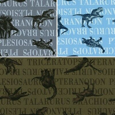 Nico Nico Land Dinosaurs Sketches and Names 100% Japanese Cotton Fabric (Lecien)
