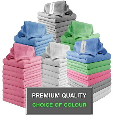 Microfibre Cloths 10 Pack, Microfiber Cleaning Cloth for Home, Cars and Work