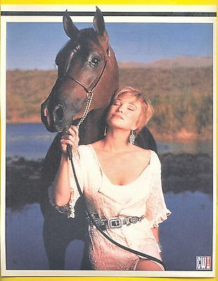 Tanya Tucker, Country Music Star with her Horse in 1996 Magazine Print Clipping