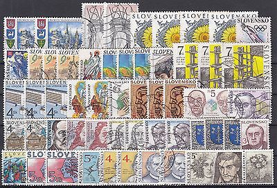 Slovakia / Slovenkso ☀ nice collection of 54 used stamps with duplicates ☀ SCAN