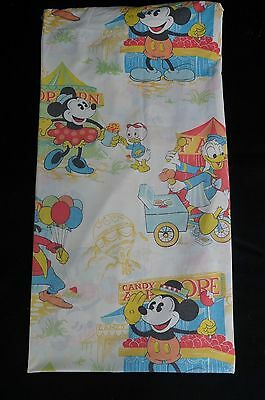 Vtg Walt Disney Productions Fitted Sheet Fabric Crafts Twin Pinnochio Donald