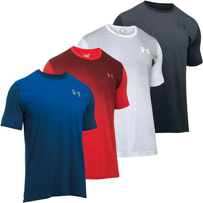 Under Armour 2017 Mens Left Chest Spray Gradient SS T Shirt UA Training Tee
