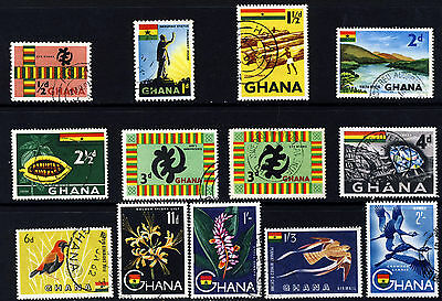 GHANA 1959-61 Pictorial Part Set SG 213a to SG 227 VFU