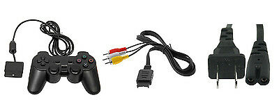 PS2 PARTS BUNDLE Controller AV RCA Cable Power Adapter Brand