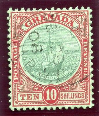 Grenada 1908 KEVII 10s green & red/green very fine used. SG 83. Sc 78.