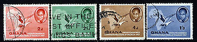 GHANA 1957 Independence Complete Set SG 166 to SG 169 VFU