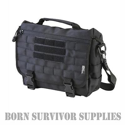 TACTICAL MOLLE SHOULDER BAG - BLACK - 10ltr Small Messenger Satchel Grab Range
