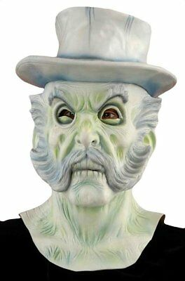 Ghostly Glow Ghost With Hat Horror Halloween Large Mask Adult Costume Accessory