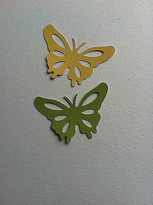 12 X Large Butterfly Die Cut Shapes-Lemon & Lime-Insects Bugs Garden