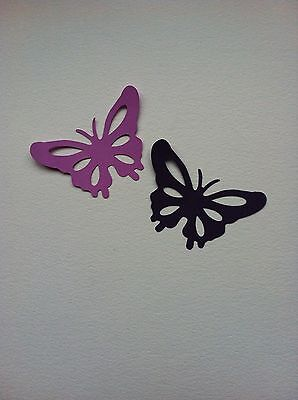 12 X Large Butterfly Die Cut Shapes-Lilac & Grape-Insects Bugs Garden