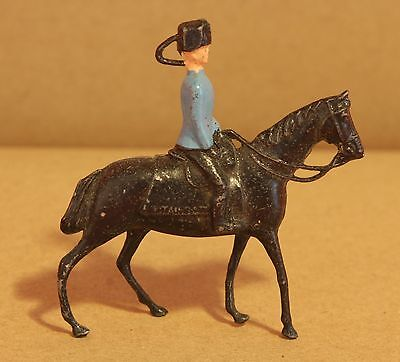 Lead Britains Toy Soldiers / Officer / Guard & Horse 100% Original Figure - Q113