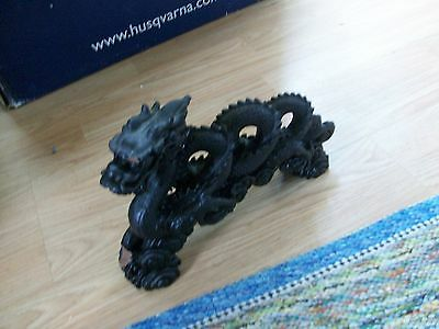 3lb. black ceramic dragon