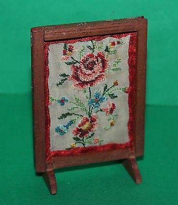 Vintage Dolls House Hand Made Fire Screen