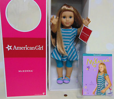 "NEW 18"" American Girl MCKENNA DOLL OF YEAR 2012 DRESS & BOOK McKenna NEW IN BOX"