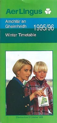 Airline Timetable - Aer Lingus - 22/10/95 - A330 EI-SHN cover - Seat Charts