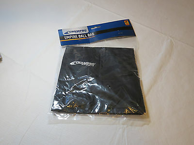 Champro Umpire Ball Bag with Belt Loops A045 black baseball NOS
