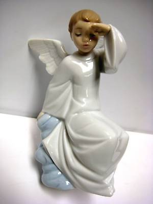 Watching Over You Angel  Figurine Nao By Lladro #1597
